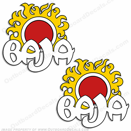 Baja Boat Logo Sun Decal (Set of 2)