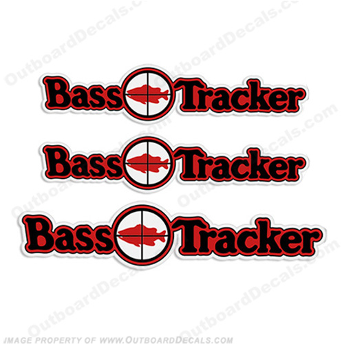 Bass Tracker Target Boat Decal Package
