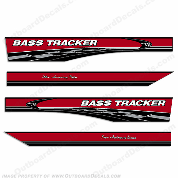 Bass Tracker PT175 Silver Anniversary Edition Decals