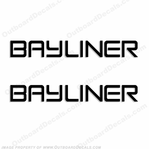 Bayliner Boats Logo Decal - Any Color! (Set of 2)