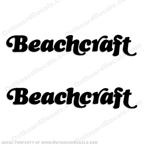 BeachCraft Boat Logo Decal (set of 2) - Any Color! beachcraft, beach-craft, beach, craft, color,