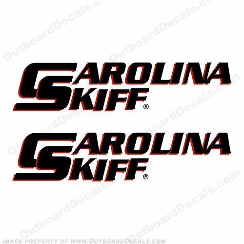 Carolina Skiff Boat Decals - Set of 2