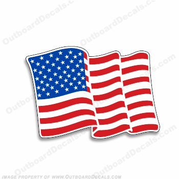 American Flag Decal - Correct Craft
