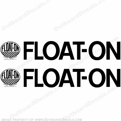 Float-On Boat Trailer Decals (Set of 2) - Any Color!