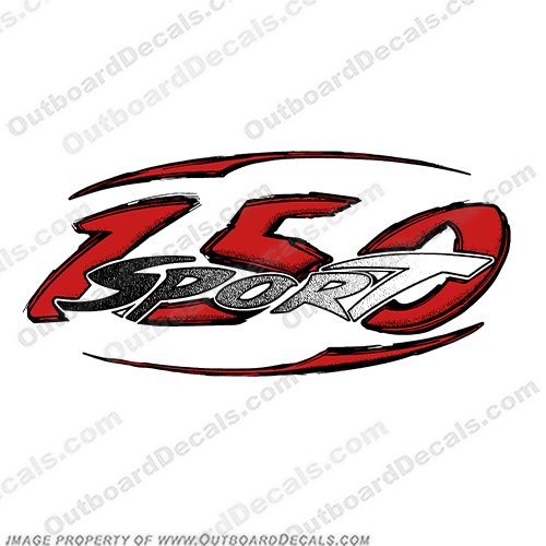 Boston Whaler 150 Sport Decal (Black/Red) Bay, boston, whaler, Boat, Logo, Decal, outrage, marine, sport, 150,