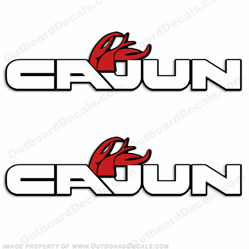Cajun Bass Boat Decals (Set of 2)