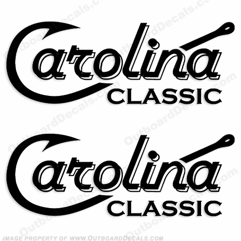 Carolina Classic Boat Logo Decals - (Set of 2) Any Color!
