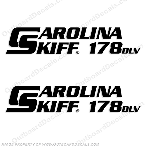 Carolina Skiff 178 DLV Boat Decals - (Set of 2) Any Color!