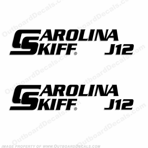 Carolina Skiff Boat Decal J12 - (Set of 2)