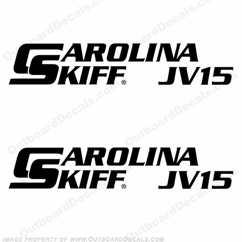 Carolina Skiff Boat Decal JV15 - (Set of 2)