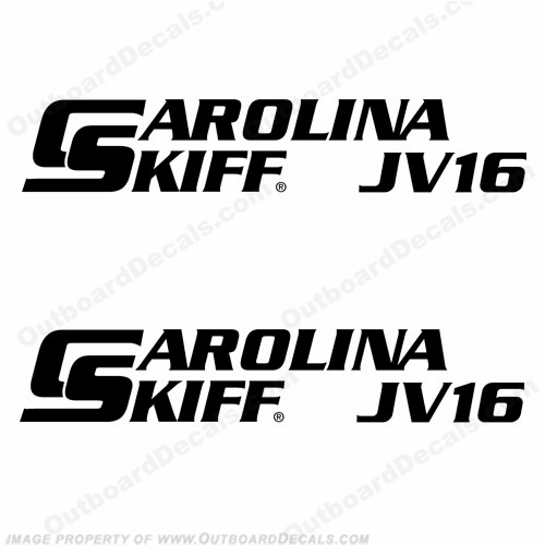Carolina Skiff Boat Decal JV16 - (Set of 2)