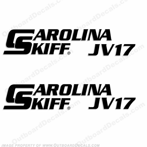 Carolina Skiff Boat Decal JV17 - (Set of 2)