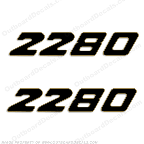 Century Boats 2280 Logo Decals (Set of 2)