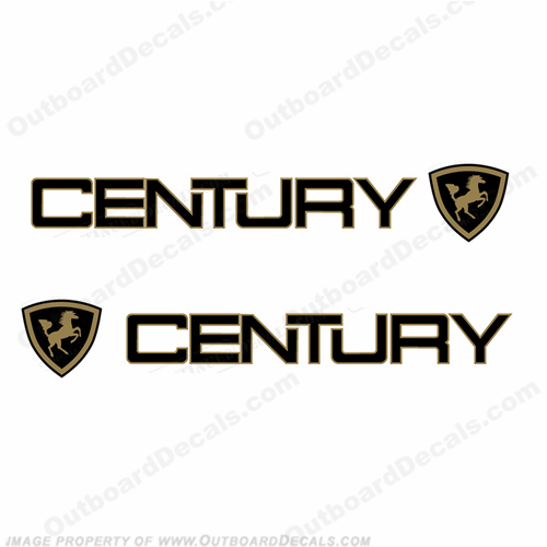Century Boats Logo w/ Crest Decals - 2 Color!