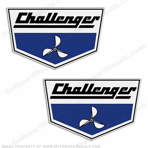 Challenger Boat Decals - 1980s (Set of 2)