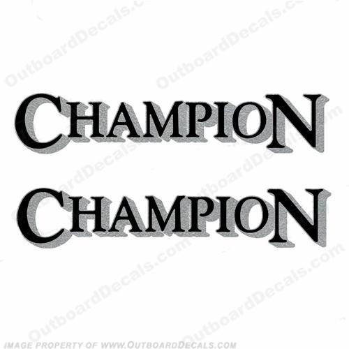 Champion Decals