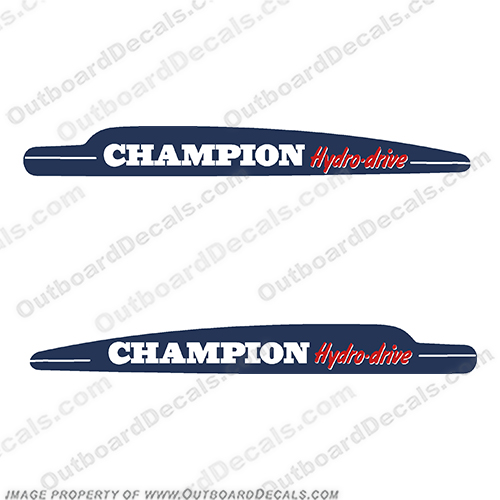 1951-1952 Champion 4l Hydrodrive Vintage Antique Outboard Engine Motor Decals