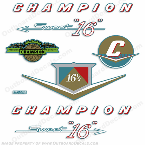 Champion Sweet 16 Outboard Decals