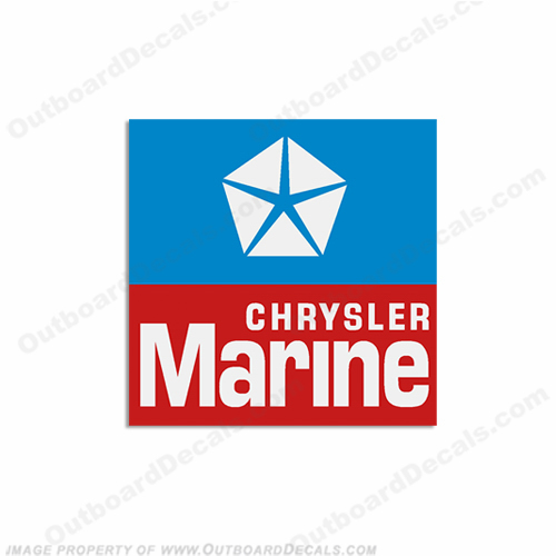Chrysler Marine Logo Emblem Square Boat Decals