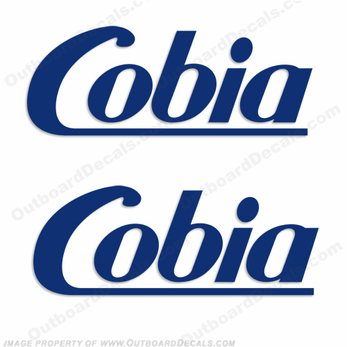 Cobia Boats Logo Decal (Style 3) - Any Color!
