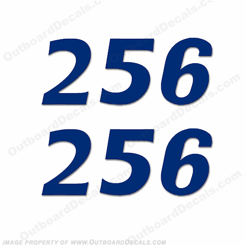 "Cobia Boats ""256"" Decals (Set of 2) - Any Color!"