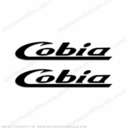 Cobia Boats Logo Decal (Style 2) - 2 Color