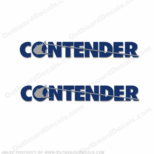 Contender Decals - 2-Color (Set of 2)