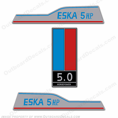 Eska 5hp Decal Kit