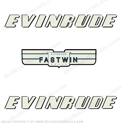 Evinrude 1952 15hp Fastwin Decal Kit evinrude 15