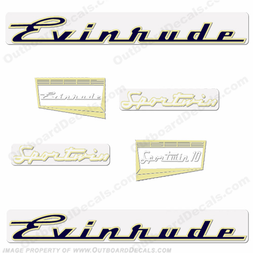 Evinrude 1957 10hp Decal Kit