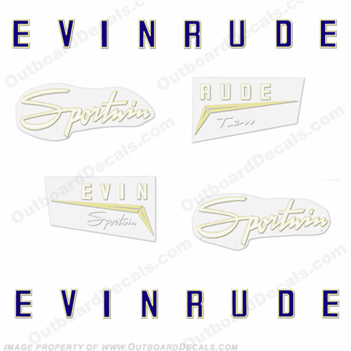 Evinrude 1958 10hp Decal Kit