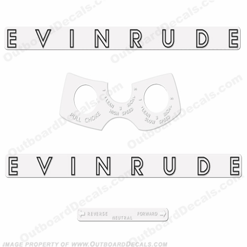 Evinrude 1962 10hp Decal Kit