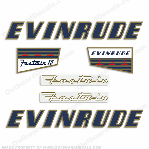 Evinrude 1956 15hp Decal Kit