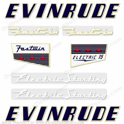 Evinrude 1956 15hp Electric Decals