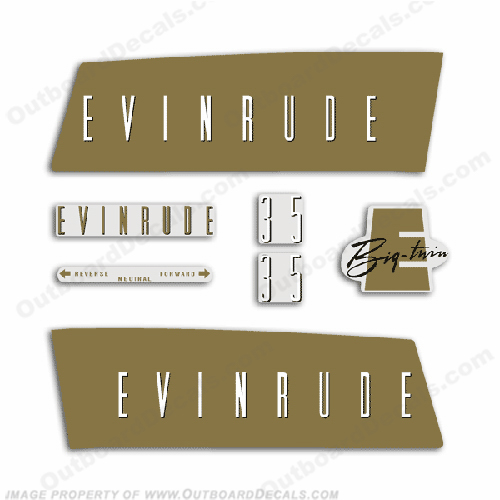 Evinrude 1959 35hp Decal Kit