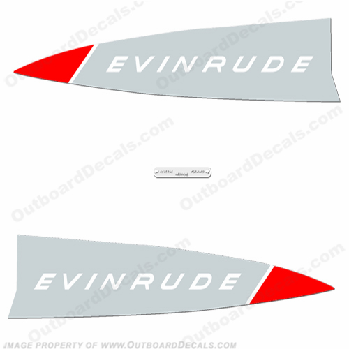 Evinrude 1965 22hp Decal Kit