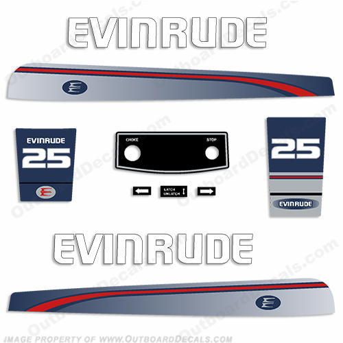 Evinrude 1995-1997 25hp Decal Kit