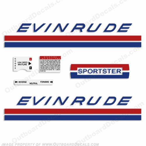 Evinrude 1969 25hp Decal Kit