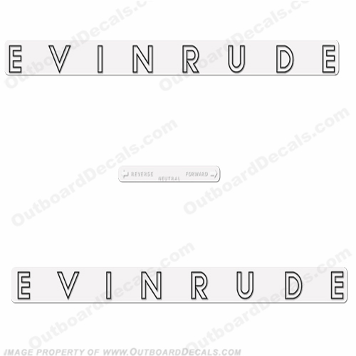 Evinrude 1962 28hp Decal Kit