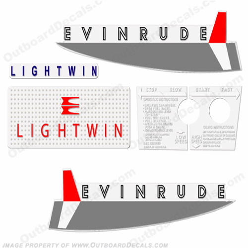Evinrude 1962 3hp Decal Kit