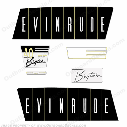 Evinrude 1960 40hp Decal Kit