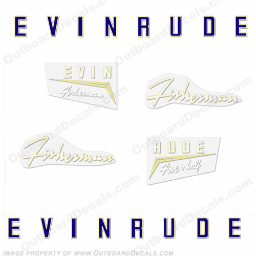 Evinrude 1958 5.5hp Decal Kit