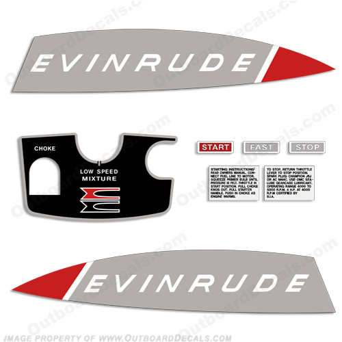 Evinrude 1965 5hp Decal Kit