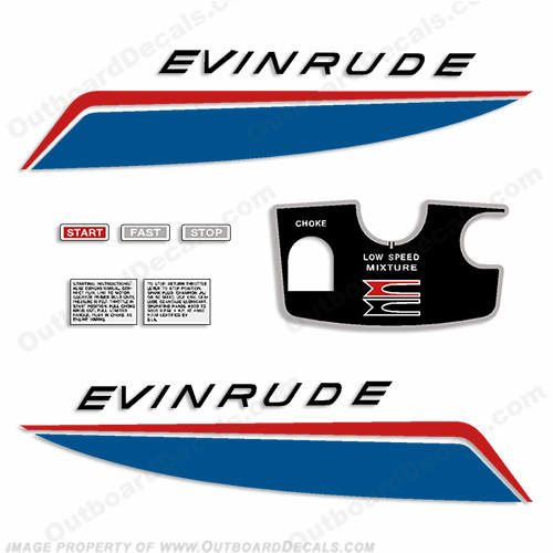 Evinrude 1966 5hp Decal Kit