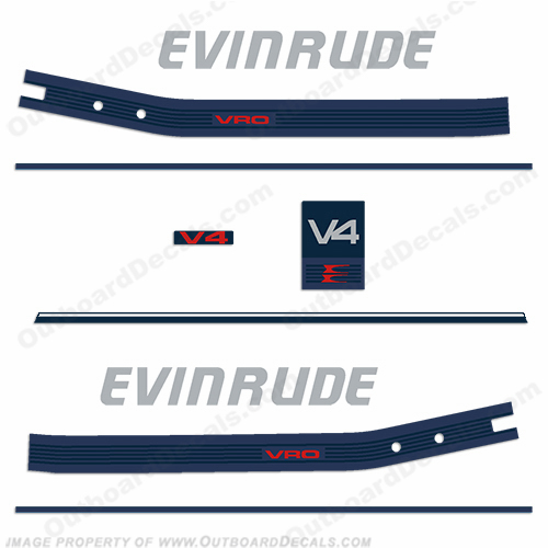 Evinrude 1986 110hp Decal Kit