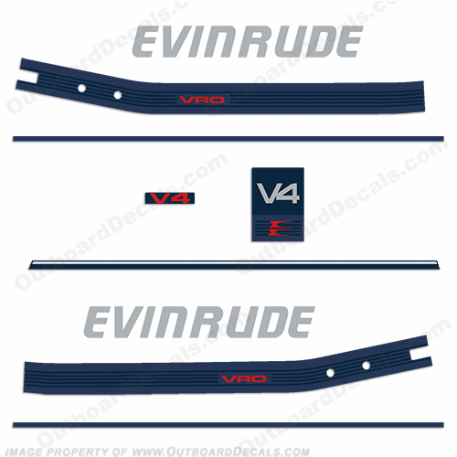 1992 Evinrude Tracker XP150 Pro Series V6 Outboard Reproduction 19 Pc Decals