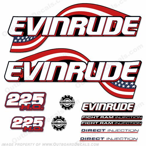 Evinrude Decals (1990 - Present)