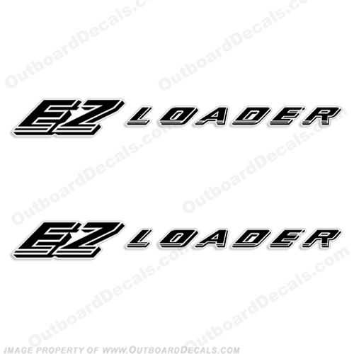 ez loader boat trailer decals  set of 2