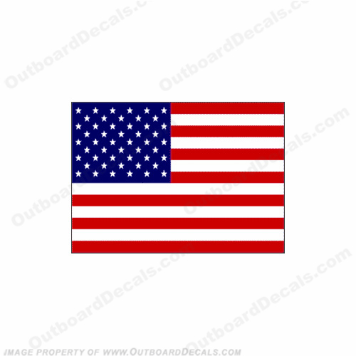 Flag Decal - American