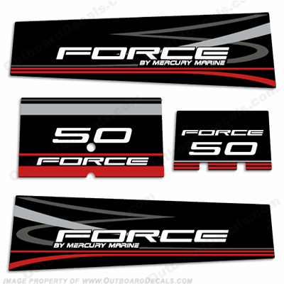 Mercury Marine Force 50hp Decal Kit